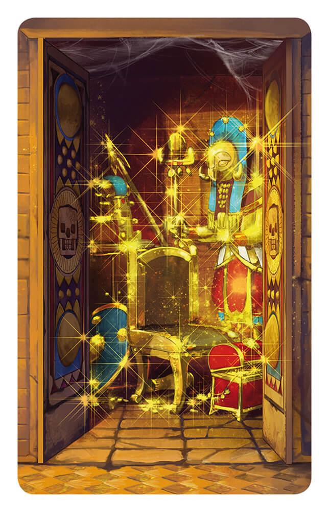 Schatzkammer mit Gold - Abenteurer gegen Wächterinnen- Tempel des Schreckens