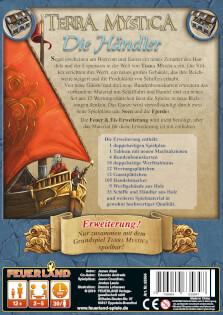 Schachtel Rückseite- Terra Mystica: Die Händler