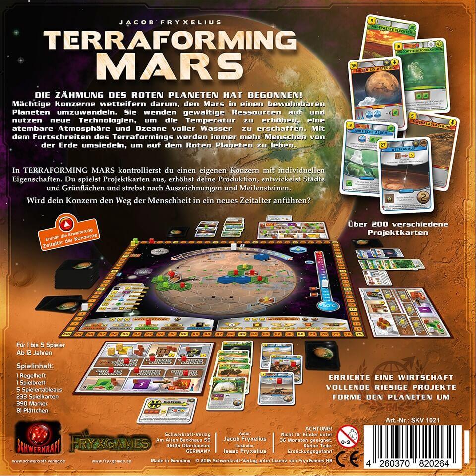 Schachtel Rückseite- Terraforming Mars