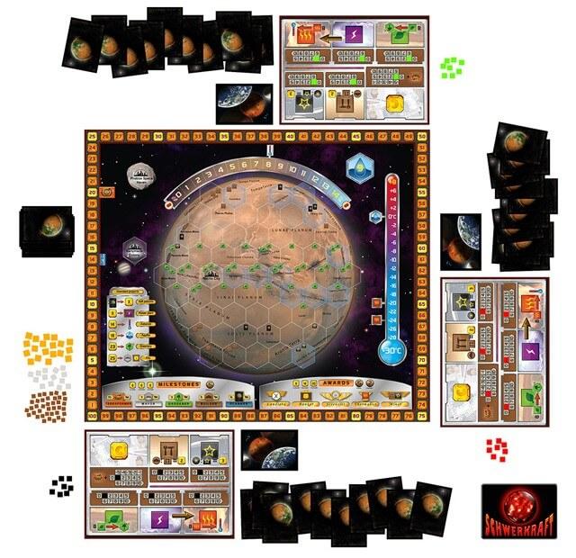 Vollständiges Spielmaterial- Terraforming Mars