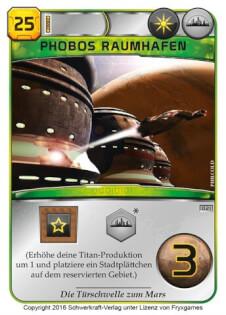 Spielkarte- Terraforming Mars