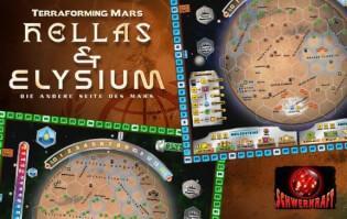 Schachtel Vorderseite - Spielplan- Terraforming Mars: Hellas & Elysium