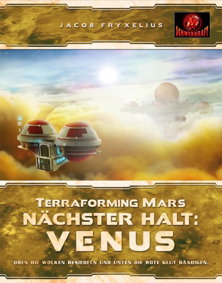 Schachtel Vorderseite- Terraforming Mars: Nächster Halt: Venus