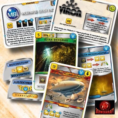 Spielkarten- Terraforming Mars: Nächster Halt: Venus