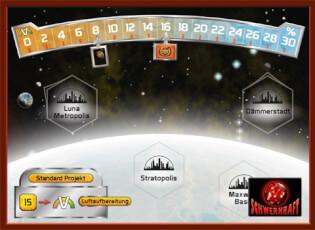 Spielplan- Terraforming Mars: Nächster Halt: Venus