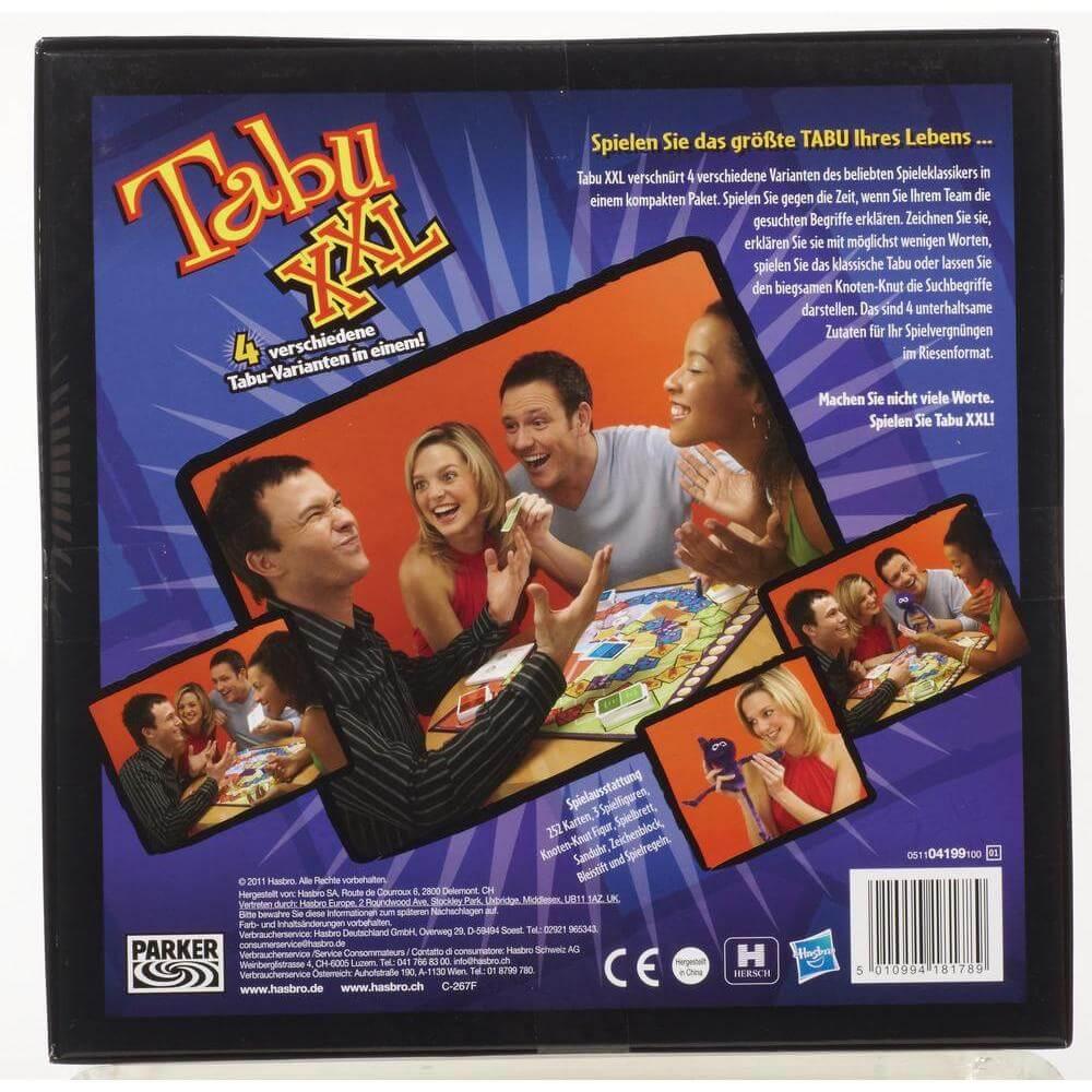 Schachtel Rückseite- Tabu XXL