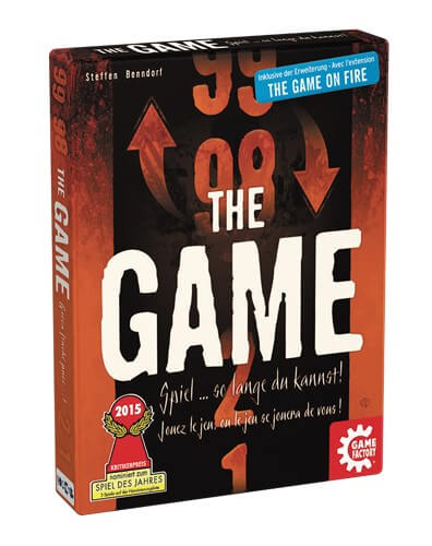 Schachtel Vorderseite - nominiert zum Spiel des Jahres 2015- The Game