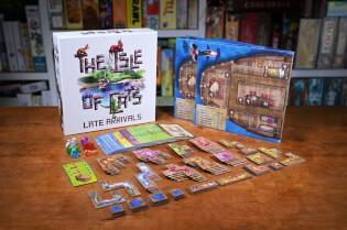 Schachtel und Spielmaterial- Die Insel der Katzen: Nachzügler