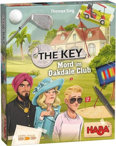 Schachtel Vorderseite- The Key - Mord im Oakdale Club