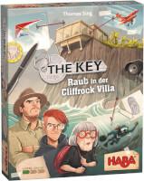 Schachtel Vorderseite - nominiert zum Spiel des Jahres 2021 - The Key - Raub in der Cliffrock Villa