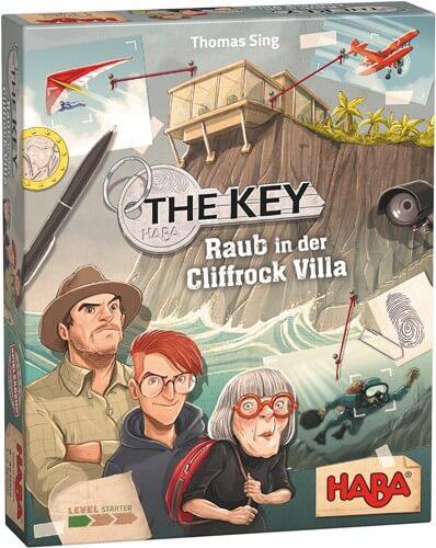 Schachtel Vorderseite - nominiert zum Spiel des Jahres 2021- The Key - Theft in Cliffrock Villa