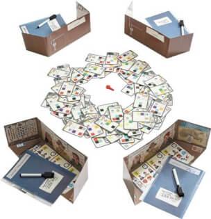 Spielmaterial - nominiert zum Spiel des Jahres 2021- The Key - Raub in der Cliffrock Villa