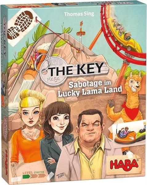 Schachtel Vorderseite - nominiert zum Spiel des Jahres 2021- The Key - Sabotage im Lucky Lama Land