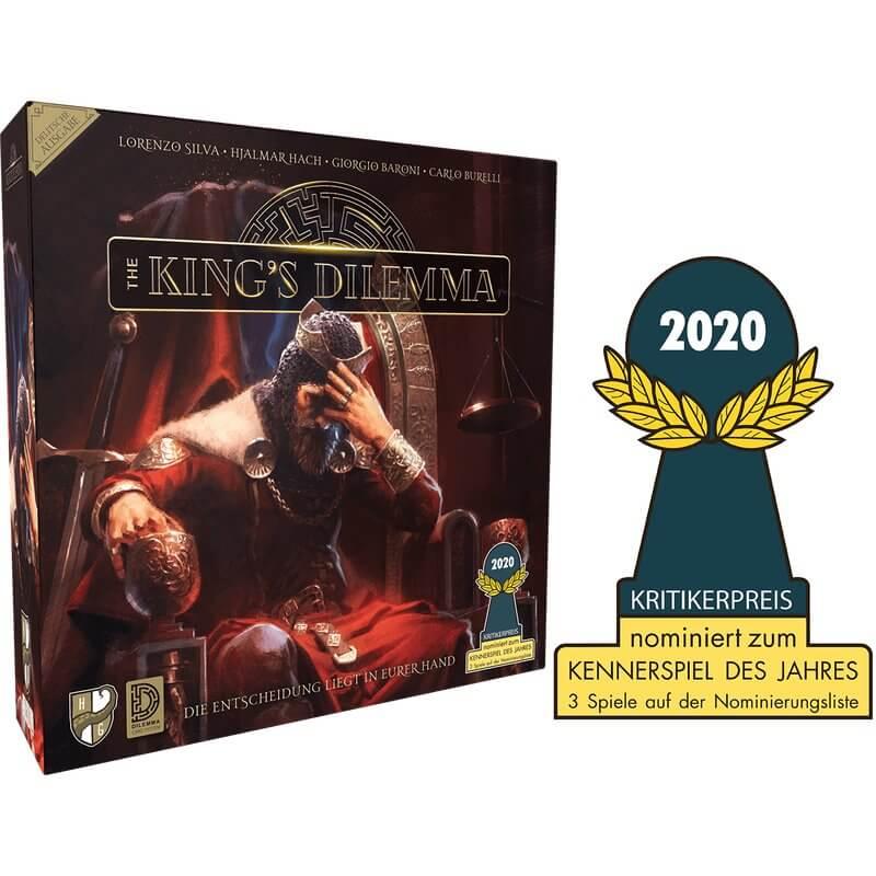 Schachtel Vorderseite - nominiert zum Kennerspiel des Jahres 2020- The King