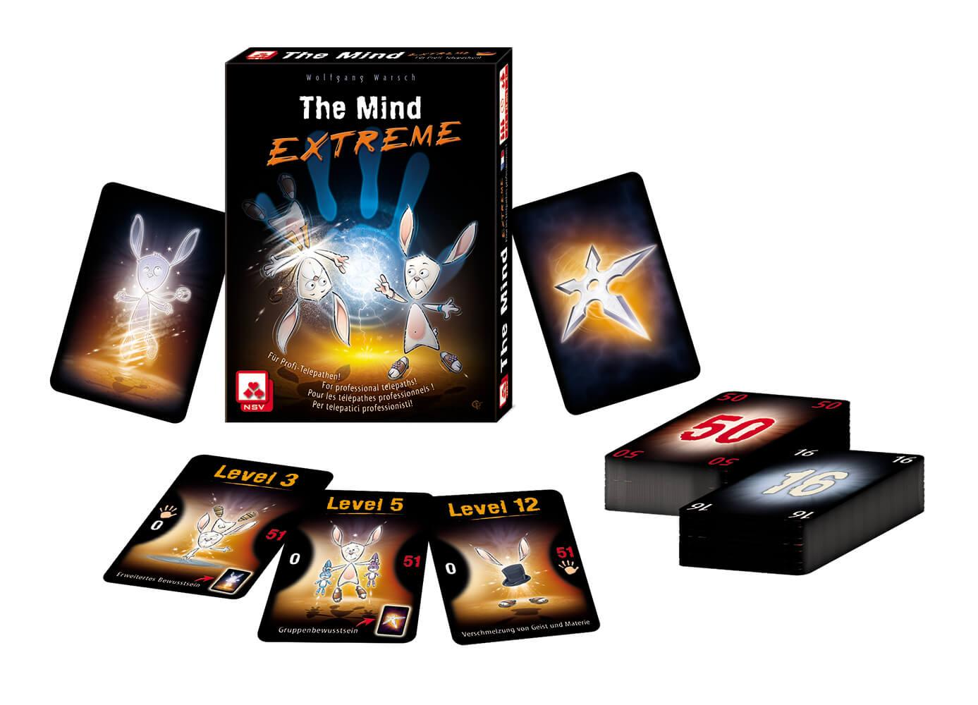 Schachtel mit Inhalt - Spielkarten- The Mind - Extreme
