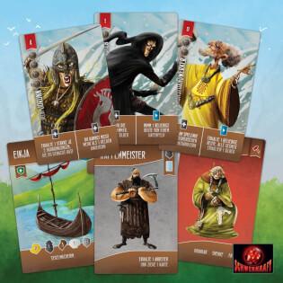 Spielmaterial - Spielkarten- Runen der Nordsee-Saga
