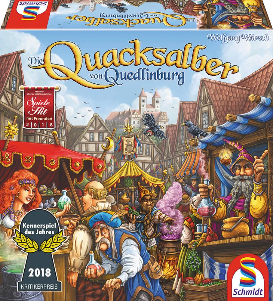 Schachtel Vorderseite - Kennerspiel des Jahres 2018- Die Quacksalber von Quedlinburg