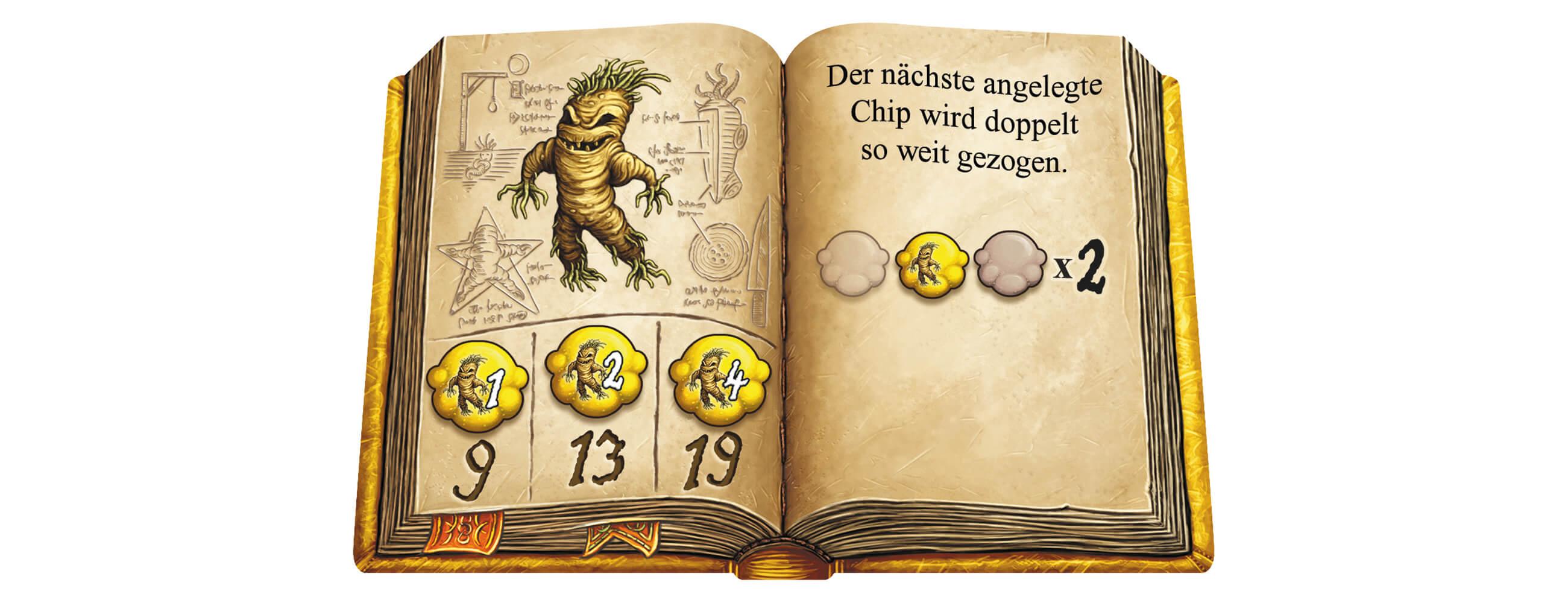 Gelbes Zutaten-Buch - Kennerspiel des Jahres 2018- Die Quacksalber von Quedlinburg