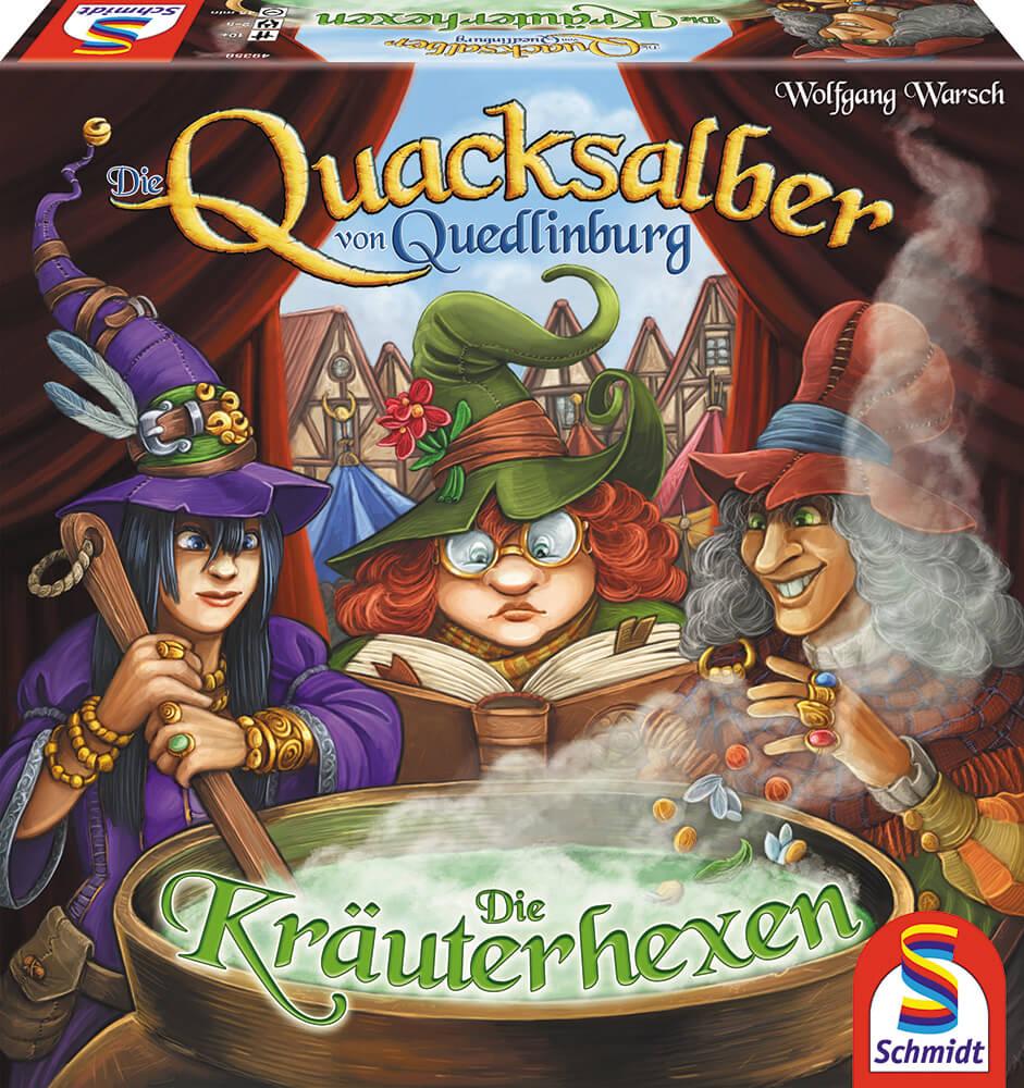 Schachtel Vorderseite- Die Quacksalber von Quedlinburg - Die Kräuterhexen