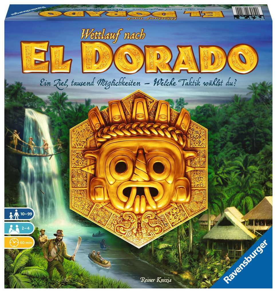 Schachtel Vorderseite - nominiert zum Spiel des Jahres 2017- Wettlauf nach El Dorado
