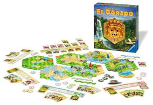 Schönes Spielmaterial mit Schachtel - nominiert zum Spiel des Jahres 2017- Wettlauf nach El Dorado