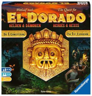 Schachtel Vorderseite- The quest for El Dorado - Heroes & Hexes