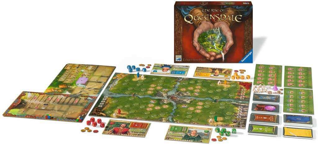 Spielmaterial - Spielpläne und Spielfiguren- The Rise of Queensdale