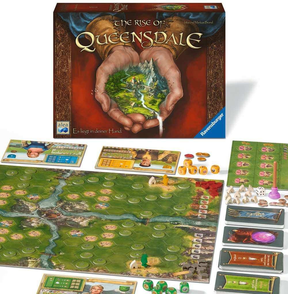 Spielmaterial - Zoom Spielpläne und Spielfiguren- The Rise of Queensdale