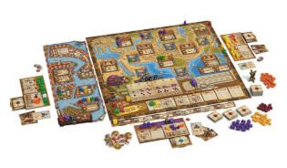 Spielbrett mit vollständigem Spielmaterial- Marco Polo - Die Gefährten