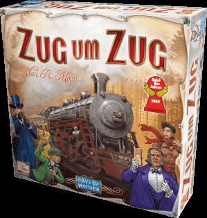 Schachtel Vorderseite - Spiel des Jahres 2004- Zug um Zug