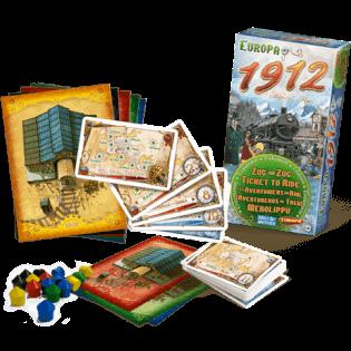 Vollständiges Spielmaterial- Zug um Zug - Europa 1912
