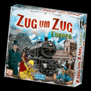 Schachtel Vorderseite- Zug um Zug - Europa