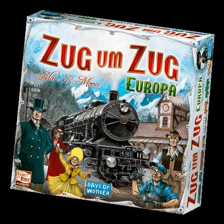 Schachtel Vorderseite- Zug um Zug: Europa