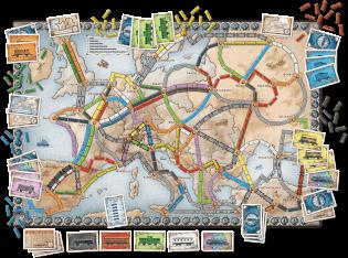 Spielplan- Zug um Zug - Europa