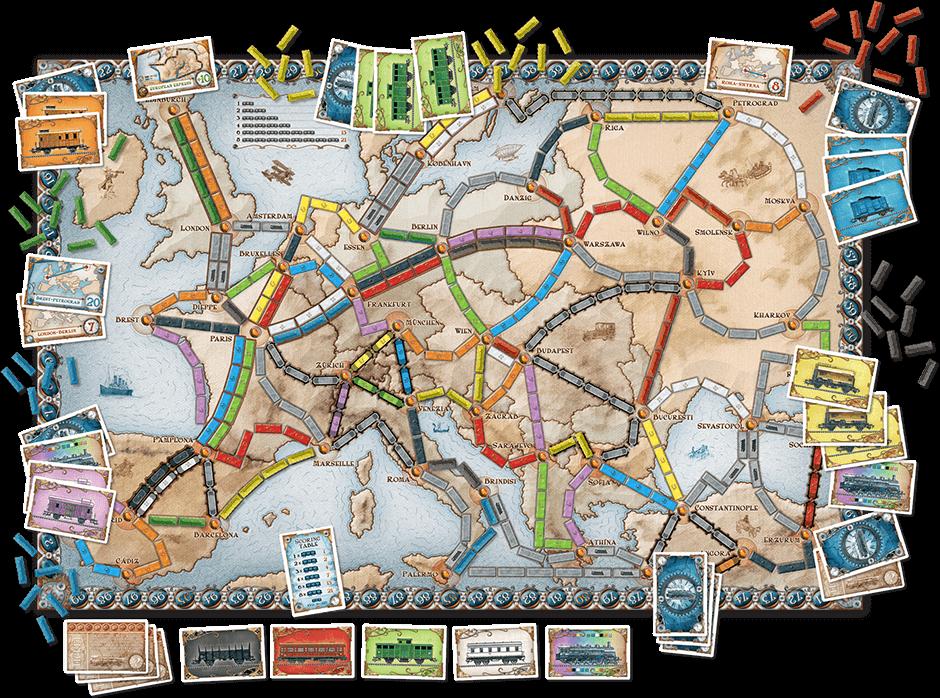 Spielplan- Zug um Zug: Europa