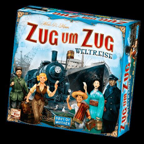 Schachtel Vorderseite- Zug um Zug: Weltreise