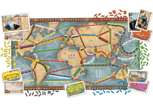 Spielbrett - Weltreise- Zug um Zug: Weltreise