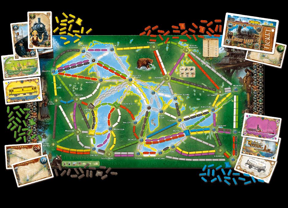 Spielplan - Die grossen Seen- Zug um Zug: Weltreise
