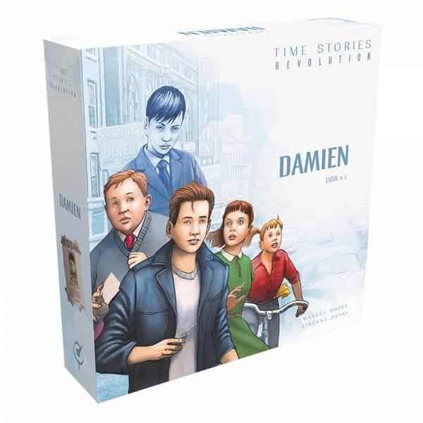 Schachtel Vorderseite - Die Fortsetzung des kooperativen Brettspiel-Hits- Time Stories - Revolution: Szenario Damien
