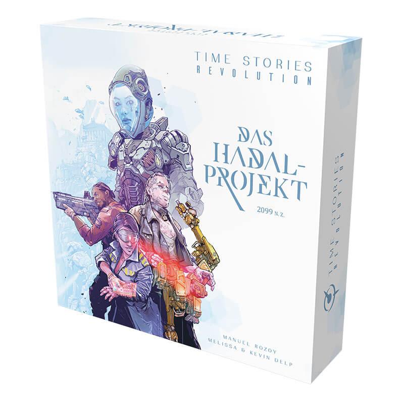 Schachtel Vorderseite - Die Fortsetzung des kooperativen Brettspiel-Hits- Time Stories - Revolution: Das Hadal-Projekt