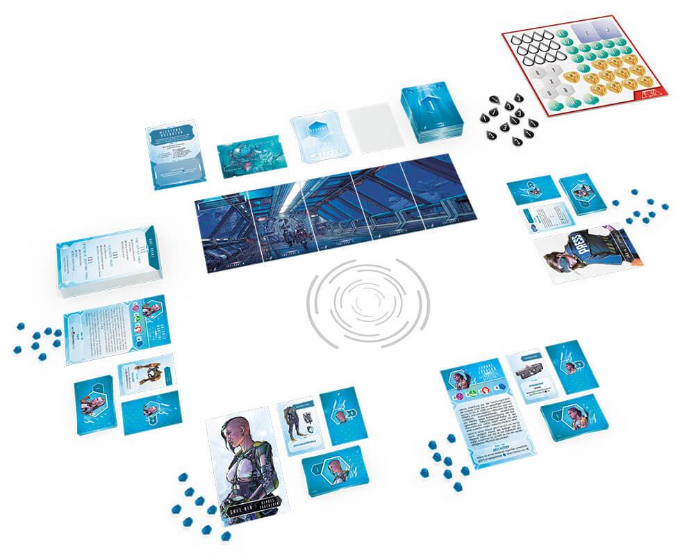 Schönes Spielmaterial - Die Fortsetzung des kooperativen Brettspiel-Hits- Time Stories - Revolution: Das Hadal-Projekt