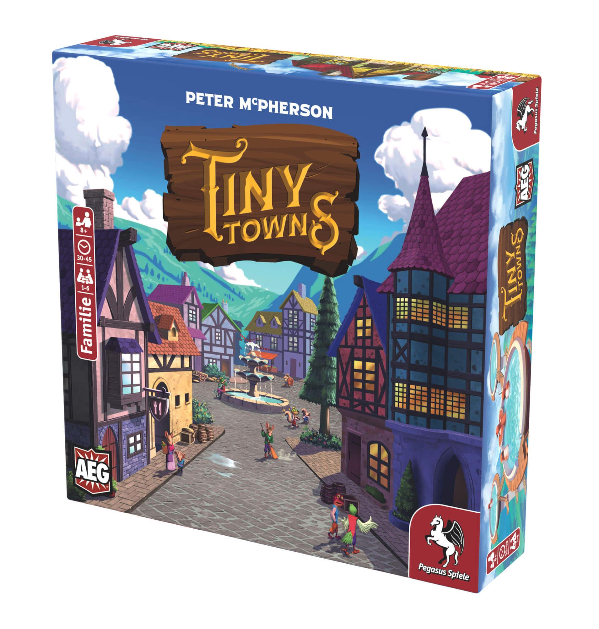 Schachtel Vorderseite, rechte Seite- Tiny Towns