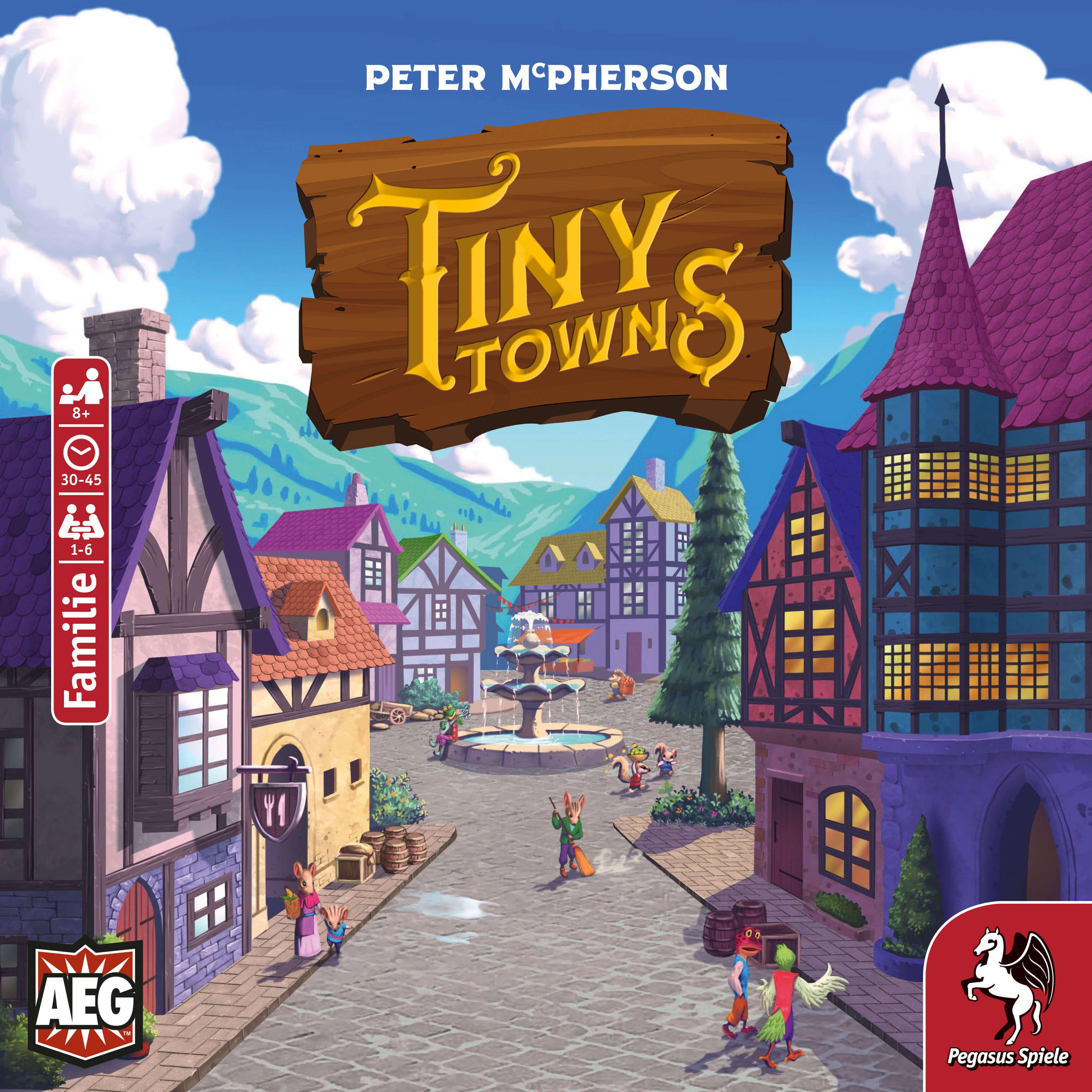 Schachtel Vorderseite- Tiny Towns