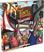 Schachtel Vorderseite, linke Seite - Tiny Towns: Fortune