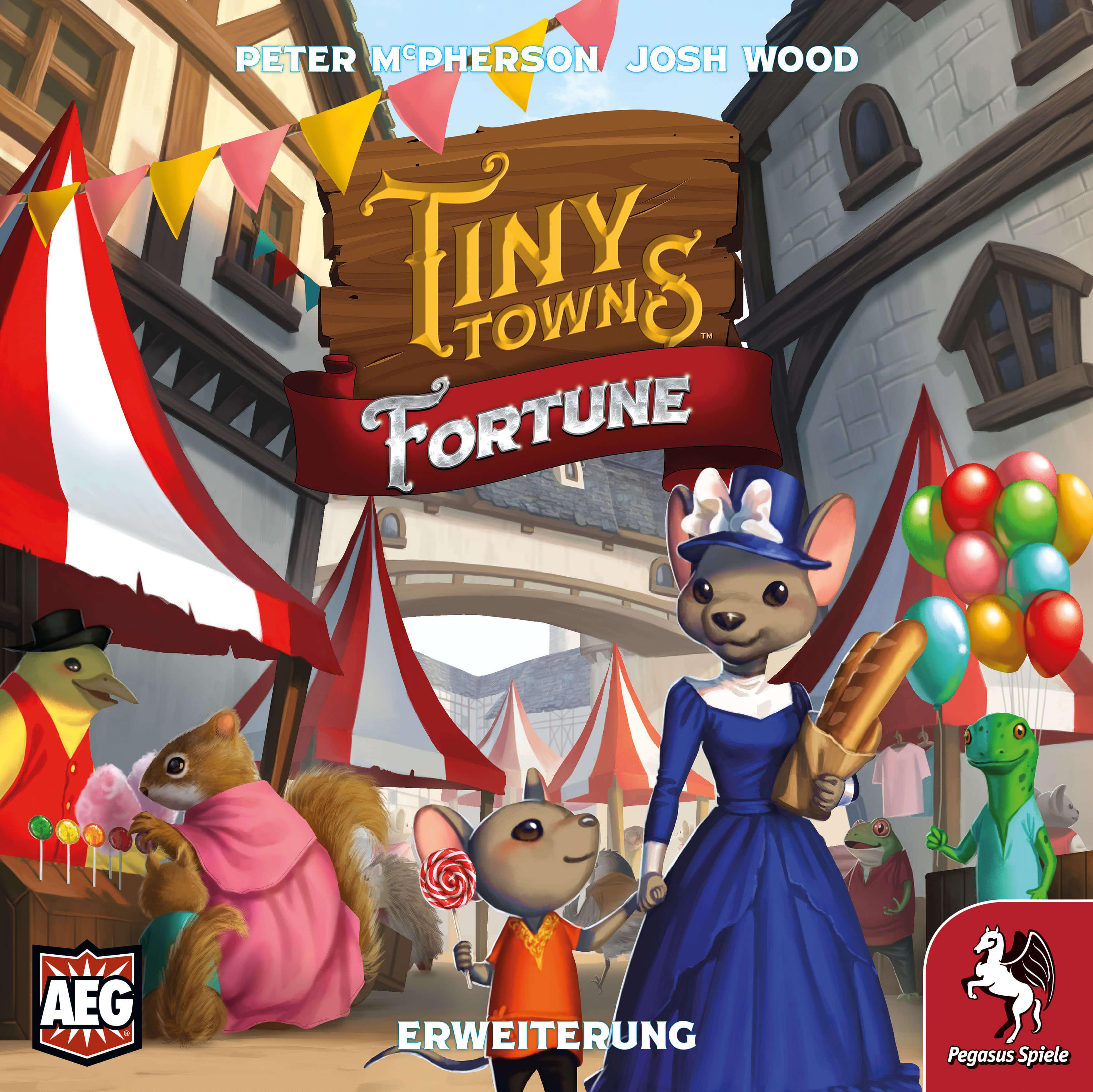 Schachtel Vorderseite- Tiny Towns: Fortune