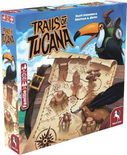 Schachtel Vorderseite, linke Seite- Trails of Tucana