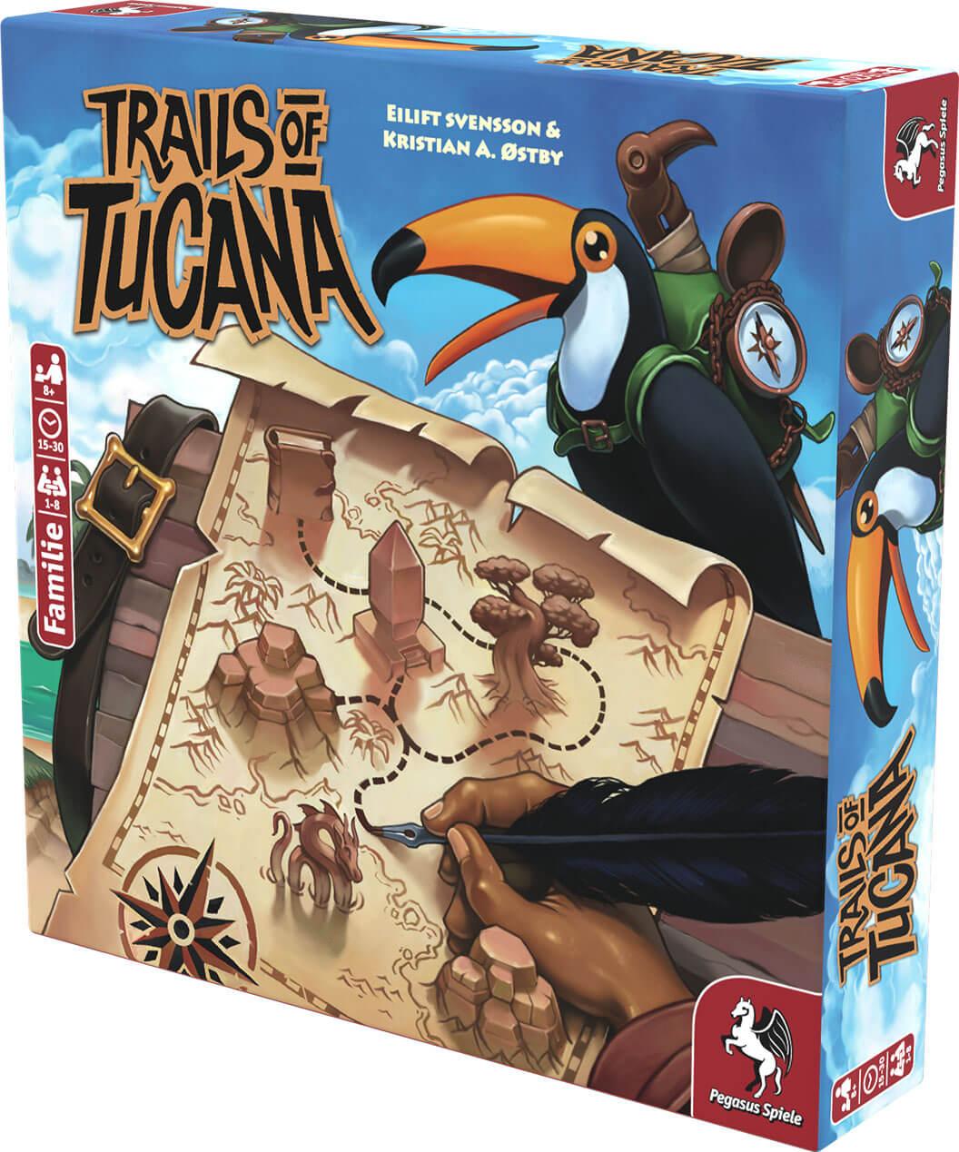 Schachtel Vorderseite, rechte Seite- Trails of Tucana