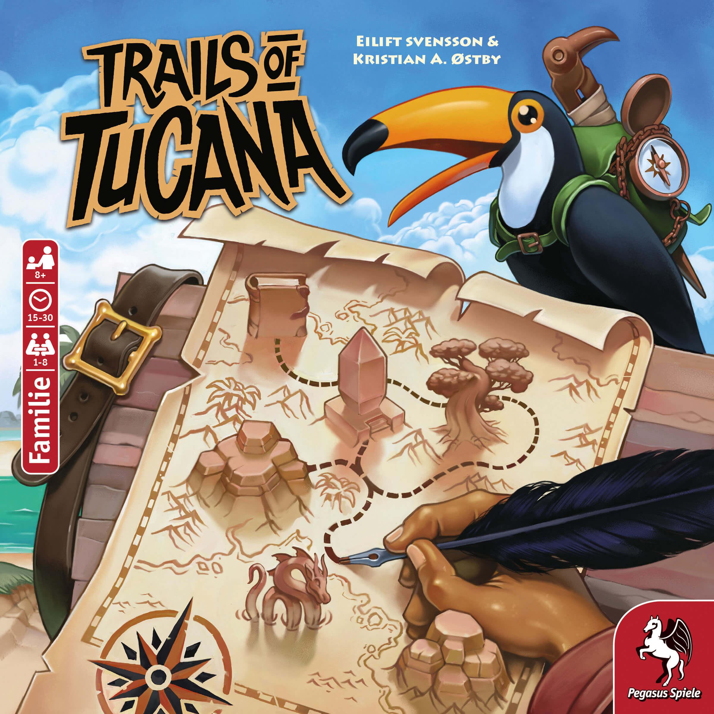 Schachtel Vorderseite- Trails of Tucana