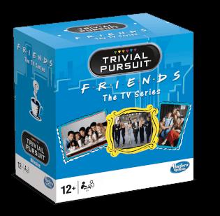 Schachtel Vorderseite, linke Seite- Trivial Pursuit - Friends