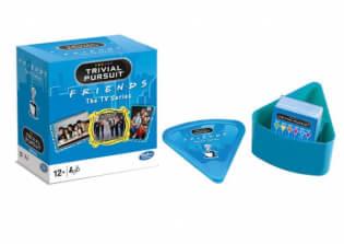 Schachtel Vorderseite und Spielmaterial- Trivial Pursuit - Friends